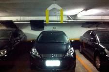 Protetor de borracha para estacionamento