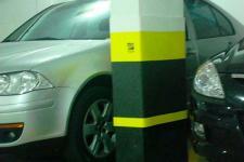 Protetor de impacto para garagem
